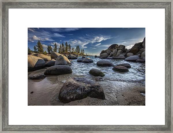 Sand Harbor II Framed Print