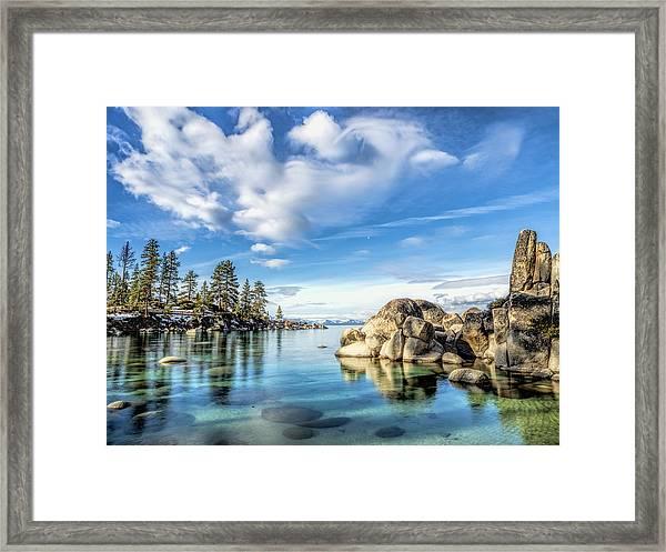 Sand Harbor Morning Framed Print