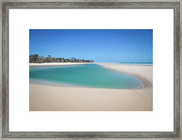 Sand Island Paradise Framed Print