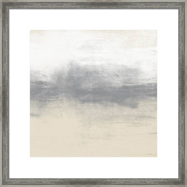 Sand Swept- Abstract Art By Linda Woods Framed Print