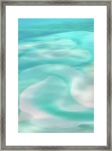 Sand Swirls Framed Print