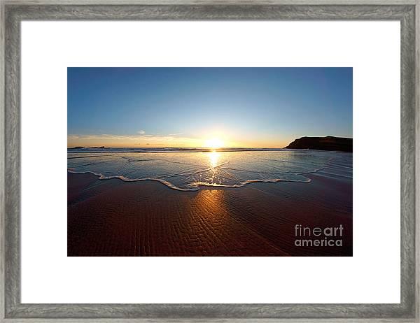 Sand Textures Framed Print