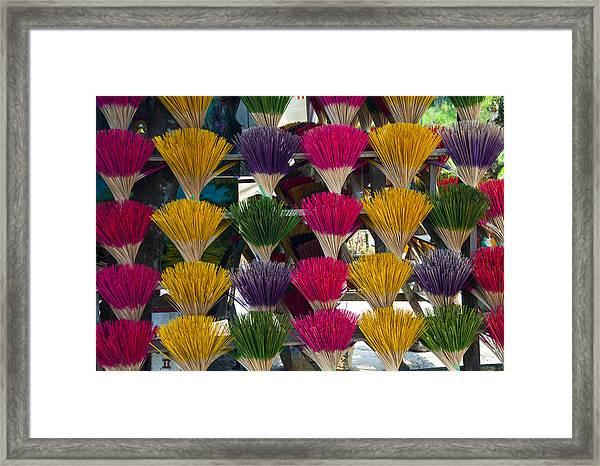 Sandalwood Incense Sticks Framed Print