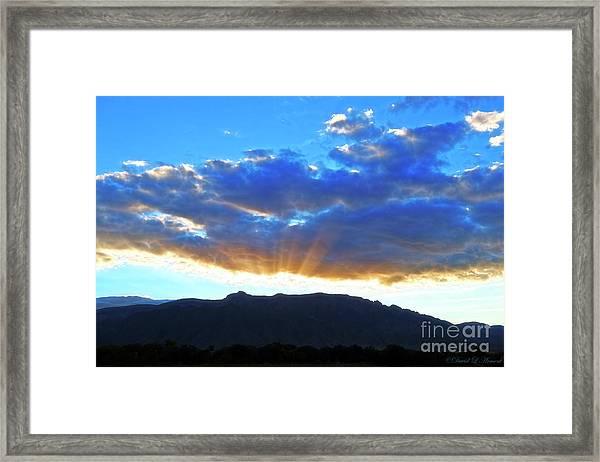 Sandia Mountain Sunrise Framed Print