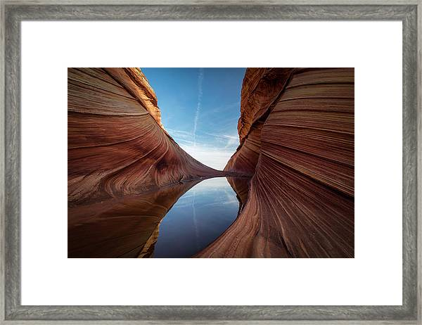 Sandstone And Sky Framed Print