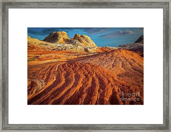 Sandstone Ropes Framed Print