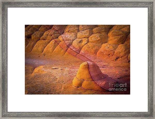 Sandstone Snail Framed Print