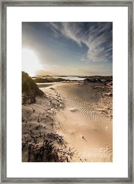 Sandy Beach Haven Framed Print