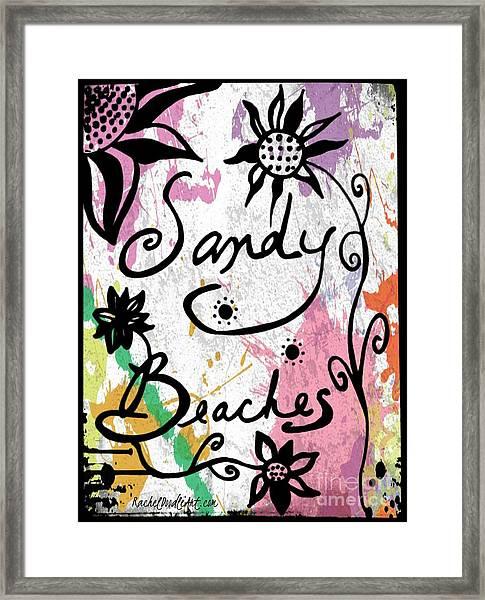Framed Print featuring the drawing Sandy Beaches by Rachel Maynard