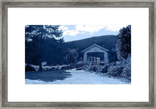 Sandy Creek Covered Bridge Framed Print