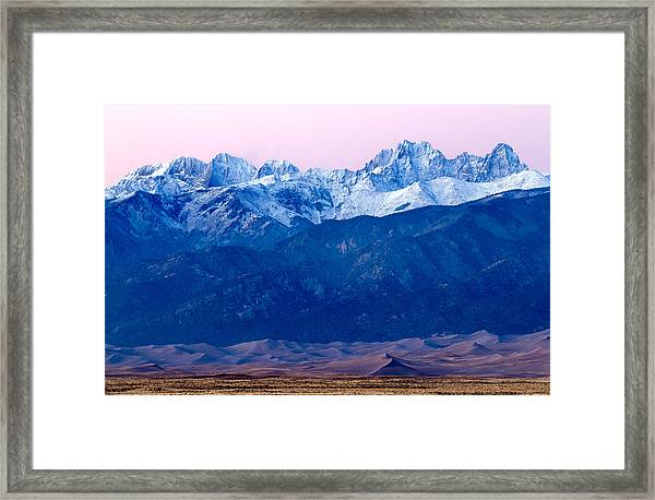 Sangre De Christo And The Great Sand Dunes National Park Framed Print