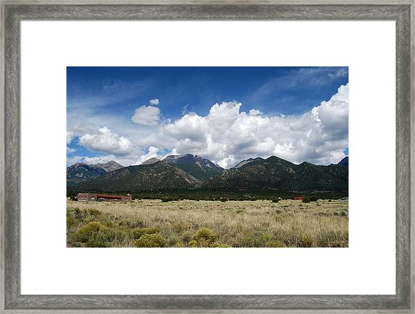 Framed Print featuring the photograph Sangre De Cristo Mountains 1 by Joseph R Luciano