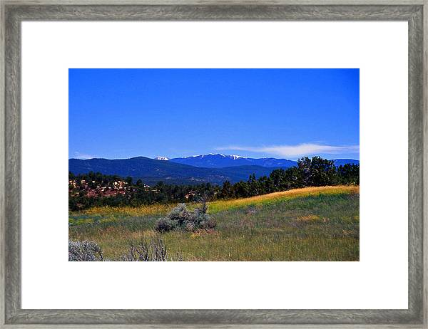 Sangre De Cristos Mountains New Mexico Framed Print by Randy Muir