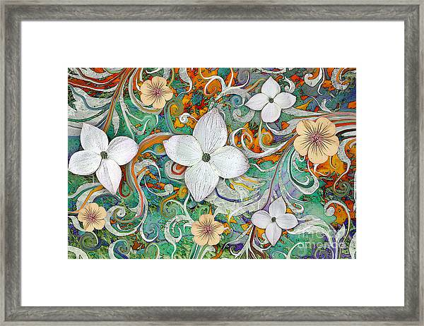 Sangria Flora Framed Print
