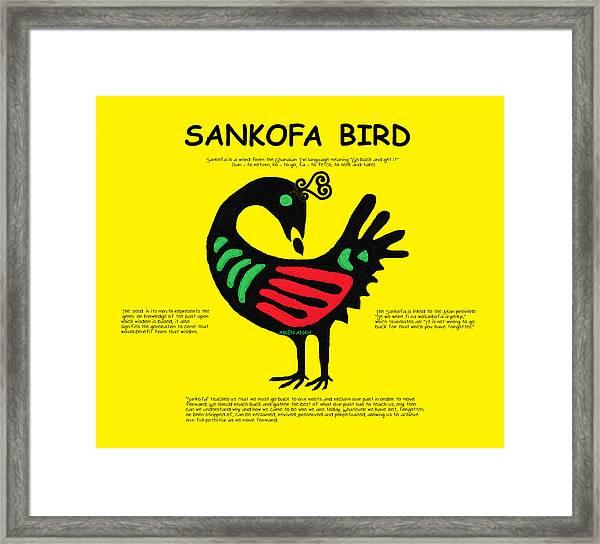 Sankofa Bird Of Knowledge Framed Print