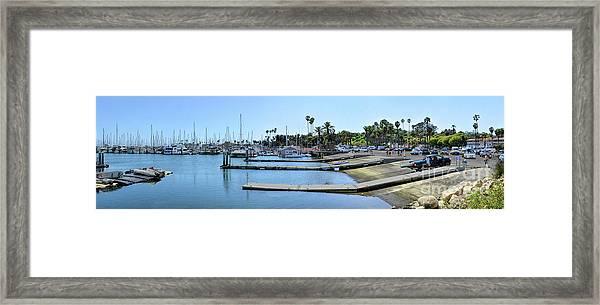 Santa Barbara Marina Framed Print