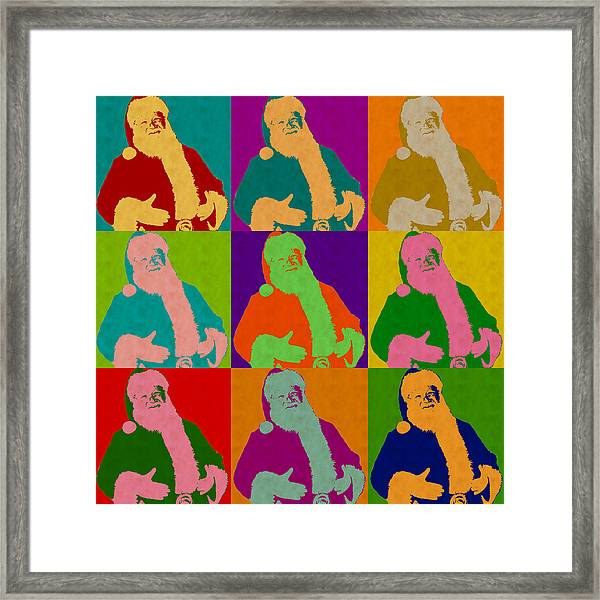 Santa Claus Andy Warhol Style Framed Print