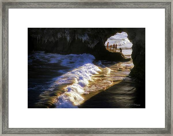 Santa Cruz 'bridge' California Coastline Framed Print