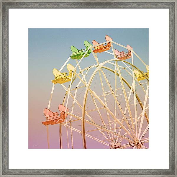 Santa Cruz Ferris Wheel Framed Print