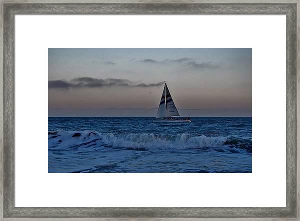 Santa Cruz Sail Framed Print