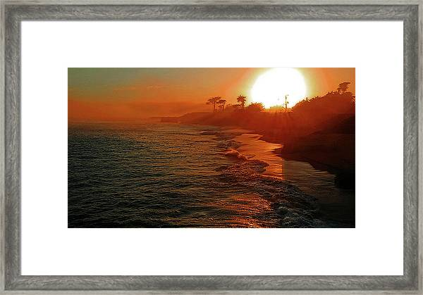Santa Cruz Sunset Framed Print