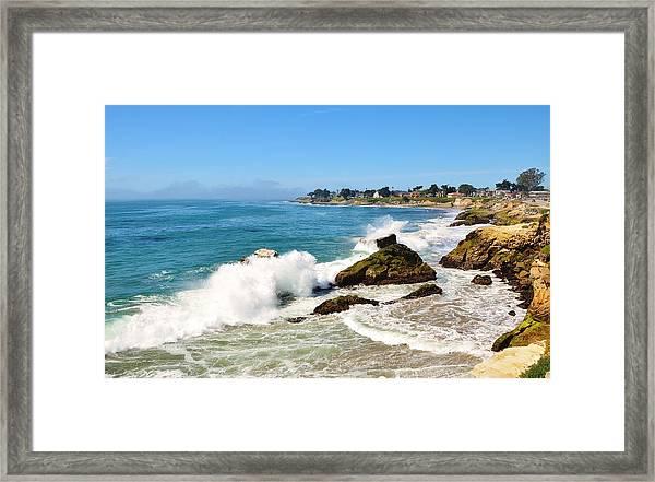 Santa Cruz Wave Spray Framed Print