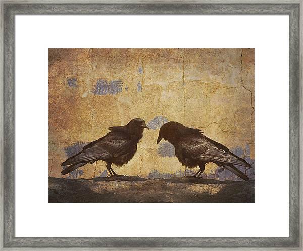 Santa Fe Crows Framed Print