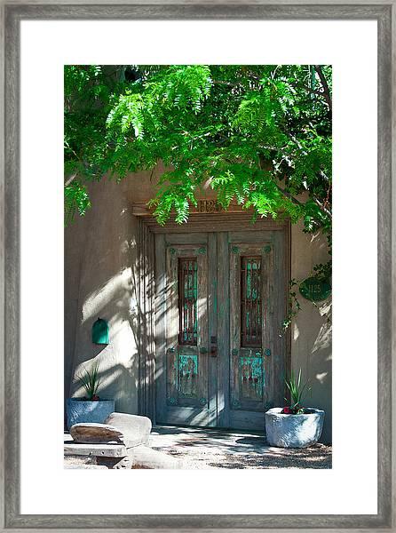 Santa Fe Door Framed Print