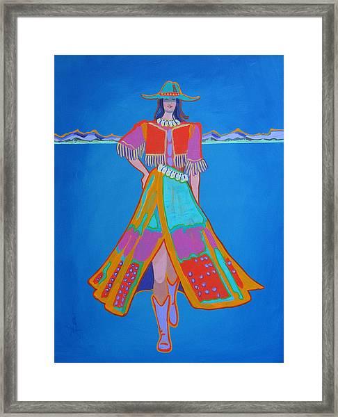 Santa Fe Girl  Framed Print