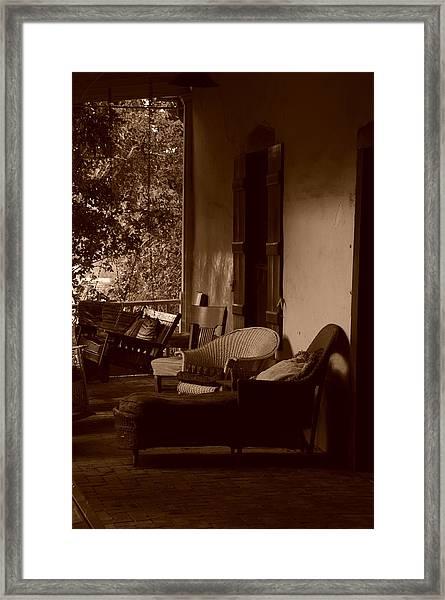 Santa Fe Porch Framed Print