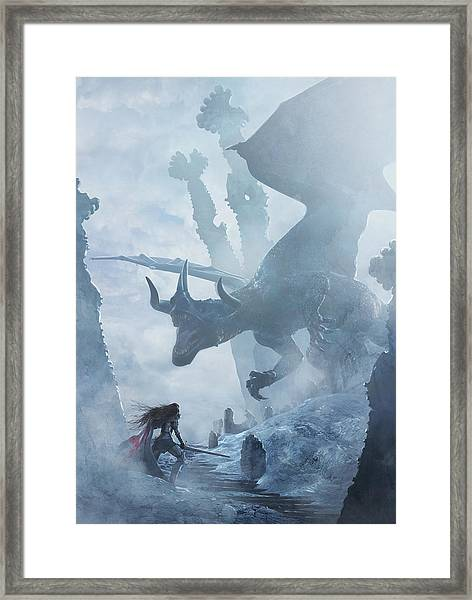 Santa Georgina Vs The Dragon Framed Print