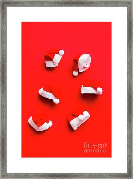 Santa Hat Party Framed Print