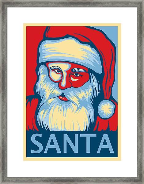 Santa Hope Framed Print