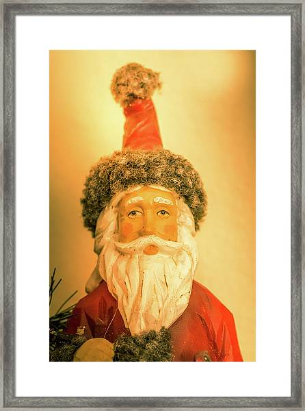 Santa Is Watching Framed Print
