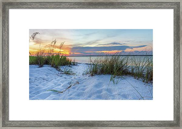 Santa Rosa Sound Sunset Framed Print