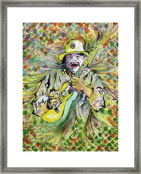 Santana's Sacred Fire Framed Print