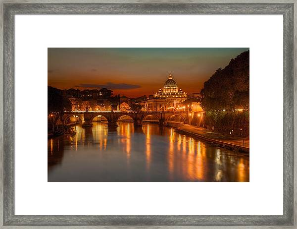 Sant'angelo Bridge Framed Print