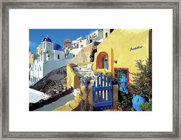Santorini 021 Framed Print