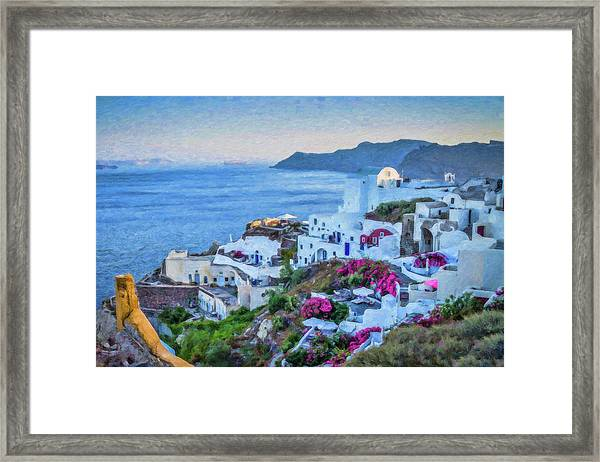 Santorini Greece Dwp416136  Framed Print