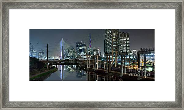 Sao Paulo Bridges - 3 Generations Together Framed Print