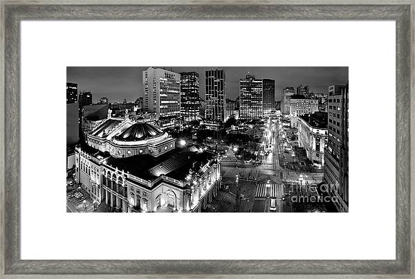 Sao Paulo Downtown - Viaduto Do Cha And Around Framed Print