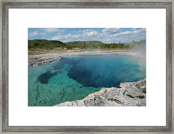 Saphire Pool Framed Print