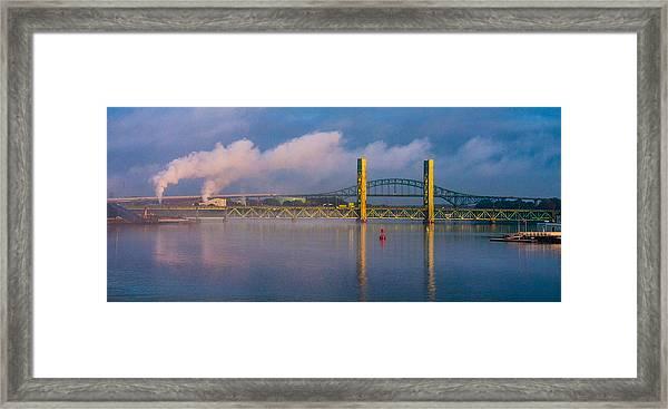 Sarah Long Bridge At Dawn Framed Print