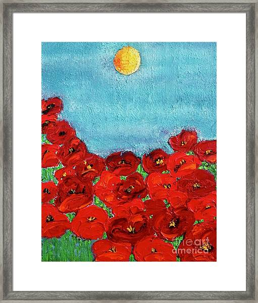 Sarah's Poppies Framed Print