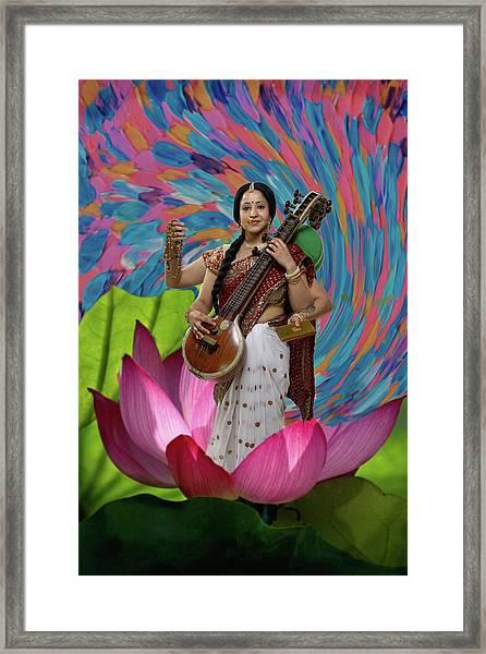 Saraswati Framed Print