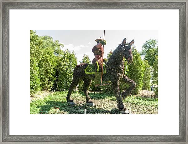 Saskatchewan's Entry Is A Royal Canadian Mounted Policeman Framed Print