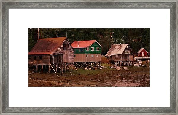 Satellite Village Framed Print