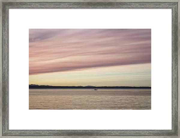 Satisfied Framed Print