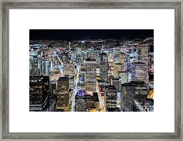Seattle Lights Framed Print