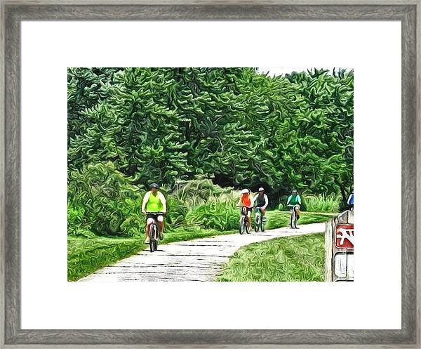 Saturday Bike Ride Framed Print